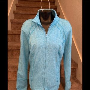 Zella Women's aqua Blue Zip Up Jacket XL stylish